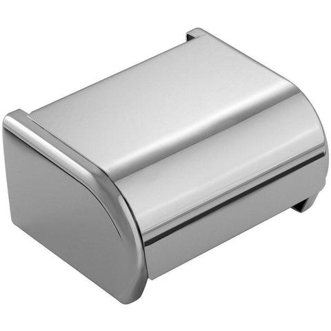 Archie Wall Lid Toilet Paper Holder Bath Tissue Roll Paper Dispenser, Chrome - AGM Home Store LLC