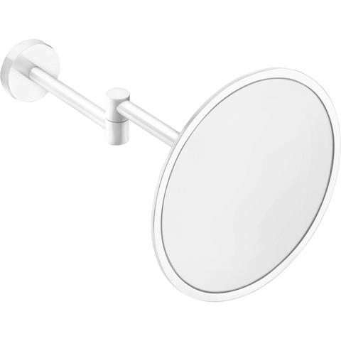 Britta Wall Mounted 3X Cosmetic Makeup Magnifying Mirror Brass Coated - AGM Home Store LLC