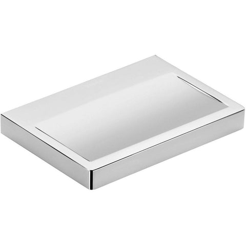 Ext Wall Mounted Soap Dish Holder Tray Soap Holder, Brass Polished Chrome - AGM Home Store LLC