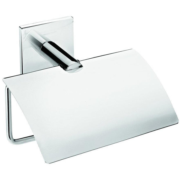 Square Self-Adhesive Lid Toilet Paper Holder Bath Tissue Roll Paper Dispenser - AGM Home Store LLC
