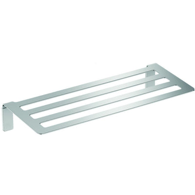 Neli Self-Ahdesive 20 in. Towel Rack Bath Storage Shelf Holder Polished Steel - AGM Home Store LLC