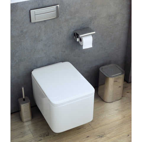 Neli Self-Adhesive Lid Toilet Paper Holder Bath Tissue Roll Paper Dispenser - AGM Home Store LLC