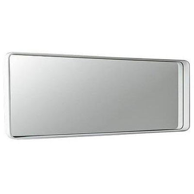 ID Wall Mounted Framed Mirror for Bathroom Vanity Bedroom, White Solid Surface - AGM Home Store LLC