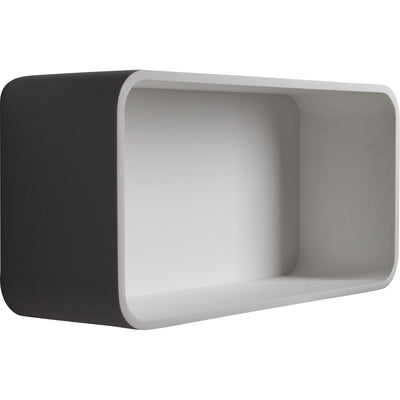 ID Wall Mounted White Matte Solid Surface Shelf Bathroom Organizer Towel Storage - AGM Home Store LLC