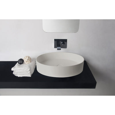 ID Solid Surface 24 in. Oval Vessel Sink Bowl Above Counter Sink Lavatory - AGM Home Store LLC