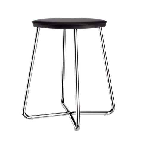 Archie Backless Vanity Stool Bench for Bath, Bedroom With Chrome Steel Legs - AGM Home Store LLC