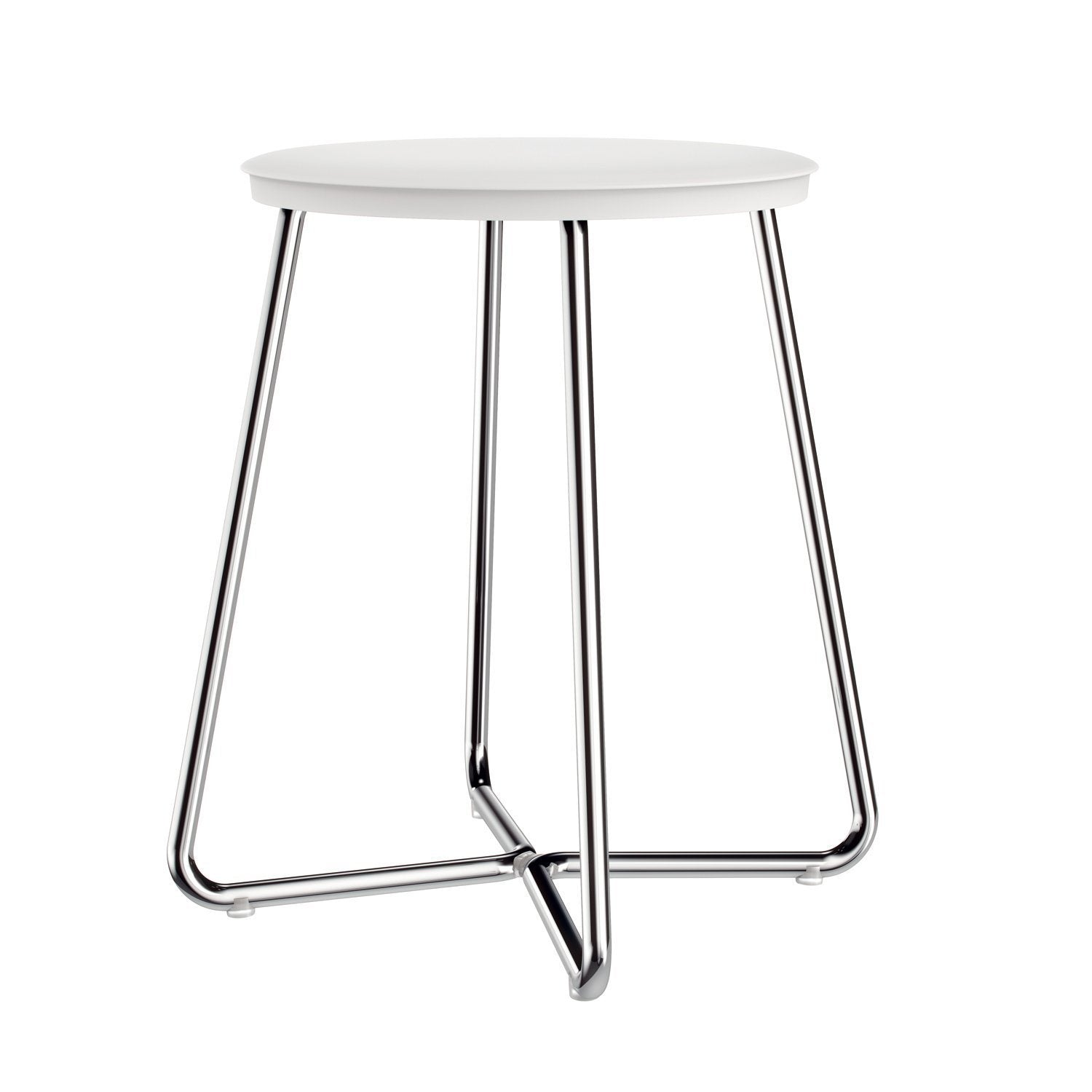 Sku 290 65 06 Item Brand Industrias Cosmic S A U Archie Backless Vanity Stool Bench For Bath Bedroom With Chrome Steel Legs Vanity Stools And Benches Cosmic Black White 200 00 250 00 Floor Standing Stainless Steel