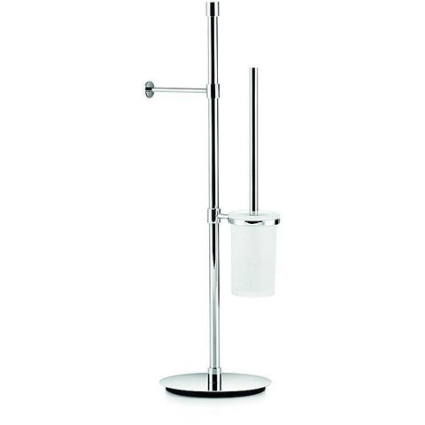 LB Ranpin Round Standing Toilet Bowl Brush & Toilet Paper Holder Set - Chrome