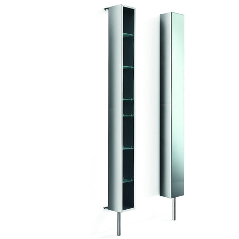 LB Pika Tower 360 Degree Rotating Floor Cabinet with Full-Length Mirror