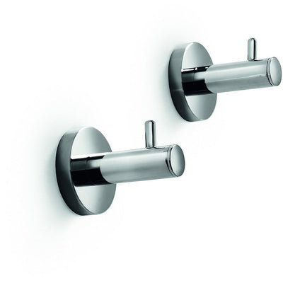 LB Spriz Brass Double Hook bathroom towel Hanger set of 2 for Bath Chrome - AGM Home Store LLC