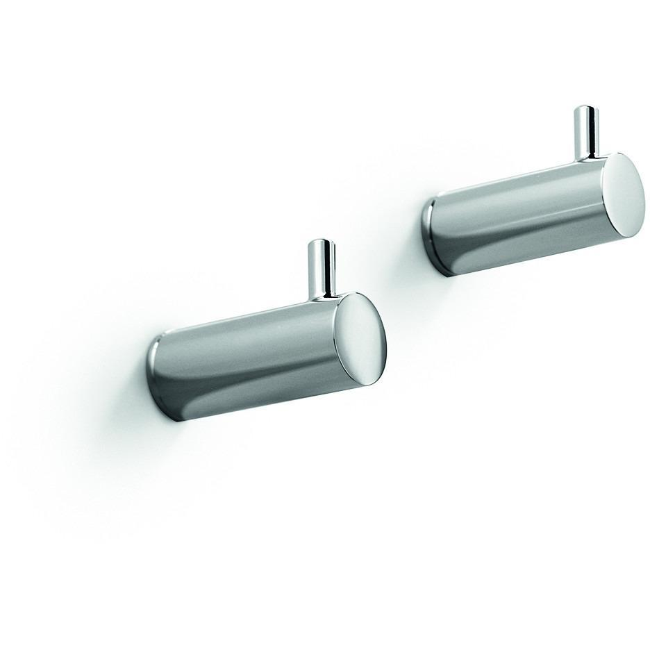 LB Picola Brass Double Towel Robe Hook Towel Hanger set of 2 for Bath, Chrome - AGM Home Store LLC