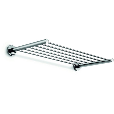 "LB Napie 23.6"" Wall Towel Rack Bath Storage Shelf Hanging Organizer, Chrome - AGM Home Store LLC"