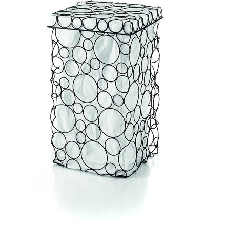 LB Sesti Hamper Laundry Basket with Cotton Bag & Cover Lid Circle Design, Square