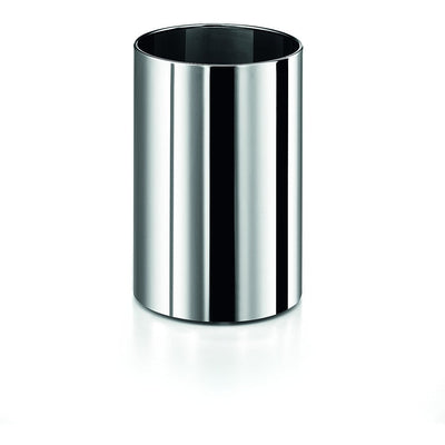 LB Round Open Top Stainless Steel Wastebasket W/O Lid Cover, Polished Chrome - AGM Home Store LLC