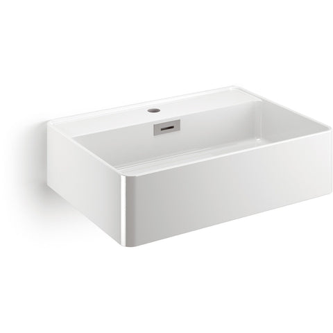 LB Quarelo Vessel Sink Above Counter Sink Lavatory Vanity Cabinet, Ceramic - More Color Options Available