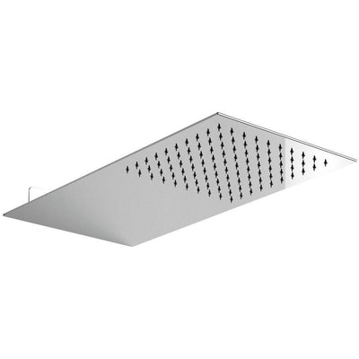 LB Rectangular Wall Mounted Rain Shower Head 1/2 Rainfall Showerhead Chrome - AGM Home Store LLC
