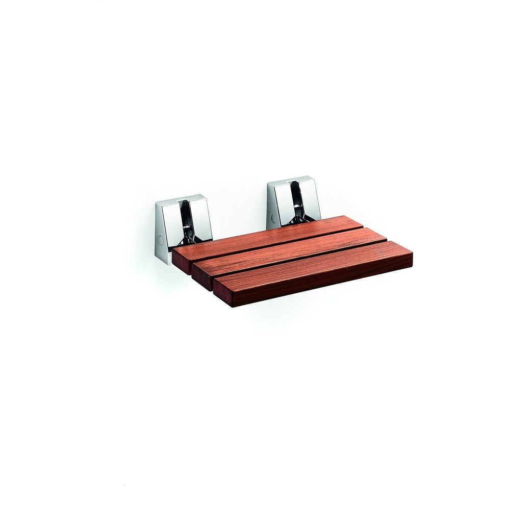 LB Scagni Folding Shower Seat in Teak Solid Wood, Fold Down Spa Bench Stool - AGM Home Store LLC