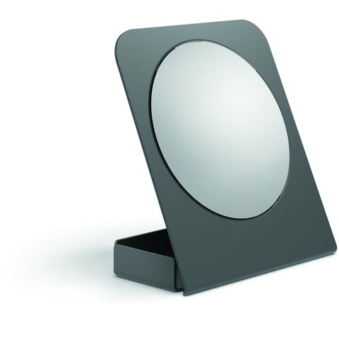 LB Cosmetic Makeup Magnifying 5X Table Mounted Mirror W/ Storage Container