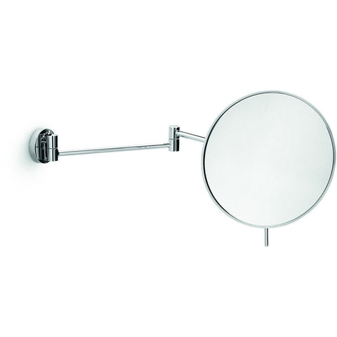 LB Wall Mounted 3X Cosmetic Makeup Magnifying 2-Arms Swivel Mirror, Chrome