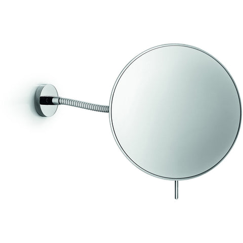 LB Wall Mounted Cosmetic Makeup Magnifying Mirror, Brass Polished Chrome