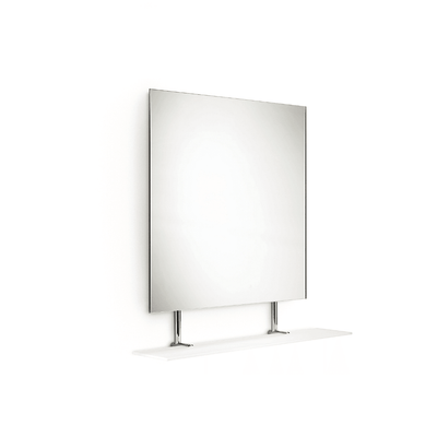 "LB Speci Wall Frameless Mirror with  Frosted Glass Tempered Shelf 23.3"" X 25.8"" - AGM Home Store LLC"