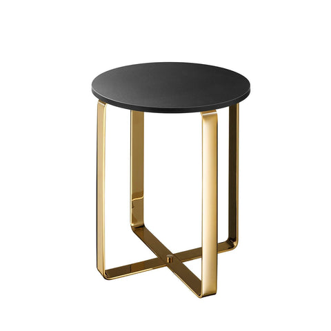 Pomdor Dolce Backless Vanity Stool Bench for Bath, Bedroom with Metal Legs - AGM Home Store LLC