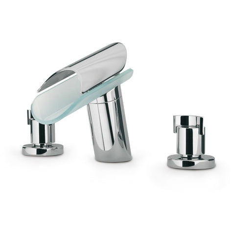 LaToscana Morgana triple hole double lever handle roman tub filler faucet knob handle - AGM Home Store LLC