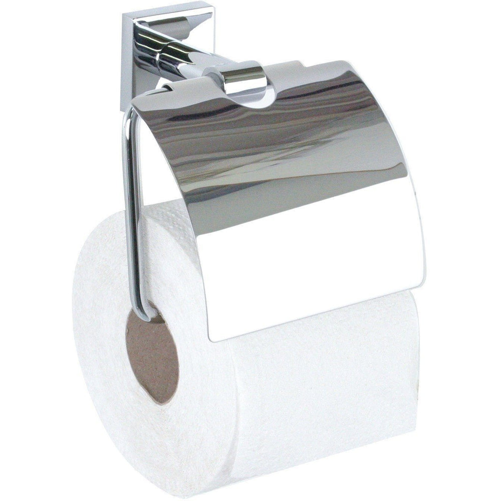 BR Quaruna Wall Chrome Toilet Paper Holder Tissue Dispenser With Lid - Brass - AGM Home Store LLC