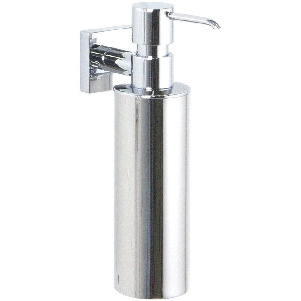 BR Quaruna Wall Mounted Chrome Pump Soap Lotion Dispenser Bath or Kitchen, Brass - AGM Home Store LLC