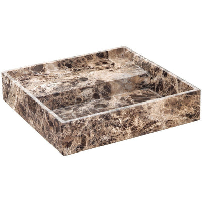 Exclusive Square Vessel Sink Countertop Lavatory Washbasin Matte Breccia Marble - AGM Home Store LLC