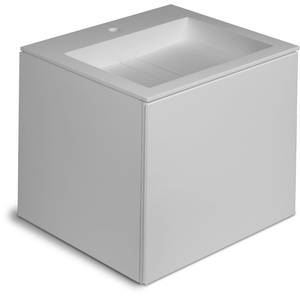 Orren Wall Mounted Bathroom Vanity 2 Drawers Cabinet, Solid Surface Washbasin - AGM Home Store LLC