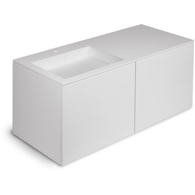 Orren 47 in. Wall Single Sink Bathroom Vanity 4 Drawers, Solid Surface Washbasin - AGM Home Store LLC