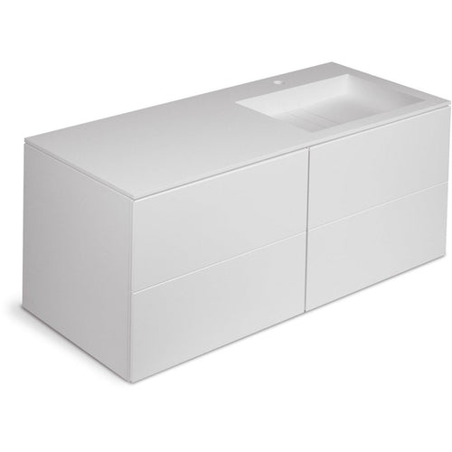 Orren 63 in. Wall Single Sink Bathroom Vanity 4 Drawers, Solid Surface Washbasin - AGM Home Store LLC