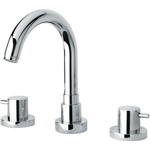 Elba triple hole double lever handle roman tub filler faucet - AGM Home Store LLC