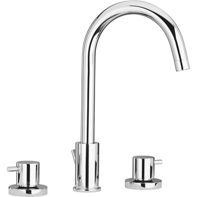 Elba double lever handle Bath widespread lavatory faucet (1.2 GPM) Swivel Spout - AGM Home Store LLC