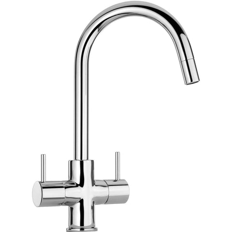 LaToscana Elba two handle pull-down kitchen faucet in Chrome - AGM Home Store LLC