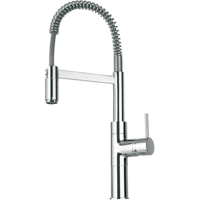 Elba single handle kitchen faucet with spring sprout in Chrome - AGM Home Store LLC