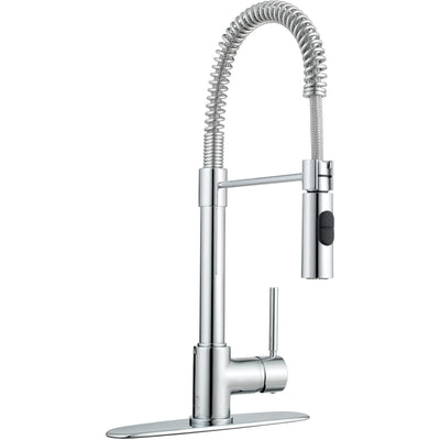 Pogno single handle pull-out spray kitchen faucet in Chrome - AGM Home Store LLC
