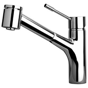 Single handle pull-out kitchen faucet 2 function sprayer (stream/spray) Chrome - AGM Home Store LLC