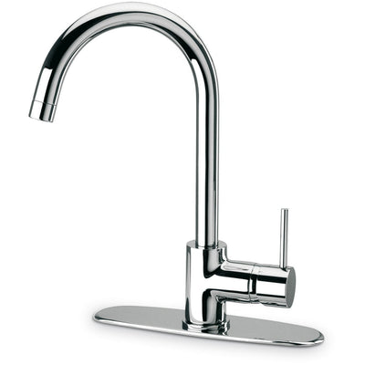 Elba single handle pull-down kitchen faucet, stream only in Chrome - AGM Home Store LLC