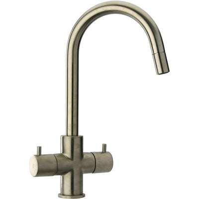 Elba two handle pull-down kitchen faucet in Brushed Nickel - AGM Home Store LLC