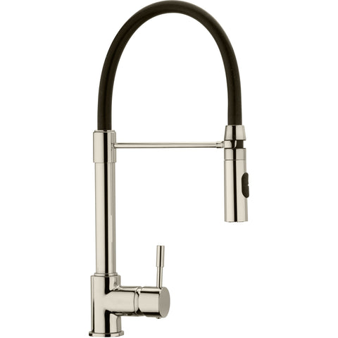 LaToscana Elba single handle pull-out spray kitchen faucet in Brushed Nickel - AGM Home Store LLC