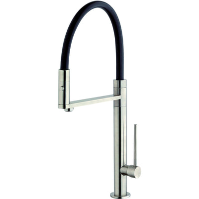 Elba single handle pull-out spray kitchen faucet in Brushed Nickel - AGM Home Store LLC