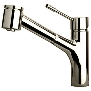 Single handle pull-out kitchen faucet with 2 function sprayer, Brushed Nickel - AGM Home Store LLC