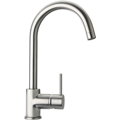 Elba single handle pull-down kitchen faucet, stream only in Brushed Nickel - AGM Home Store LLC