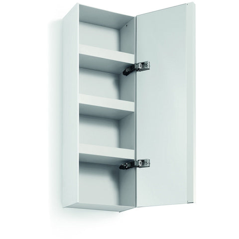 LB Ciacole Wall Small Cabinet with Full Length Mirror Door & 4-Shelves, Steel - More Color Options Available