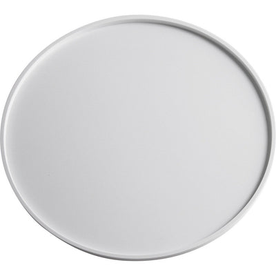 ID Solid Surface Round Bathroom Vanity Countertop Guest Towel Organizer Tray - AGM Home Store LLC