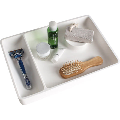 ID Solid Surface Rectangular Tray Bath Vanity Countertop Cosmetic Organizer Tray - AGM Home Store LLC