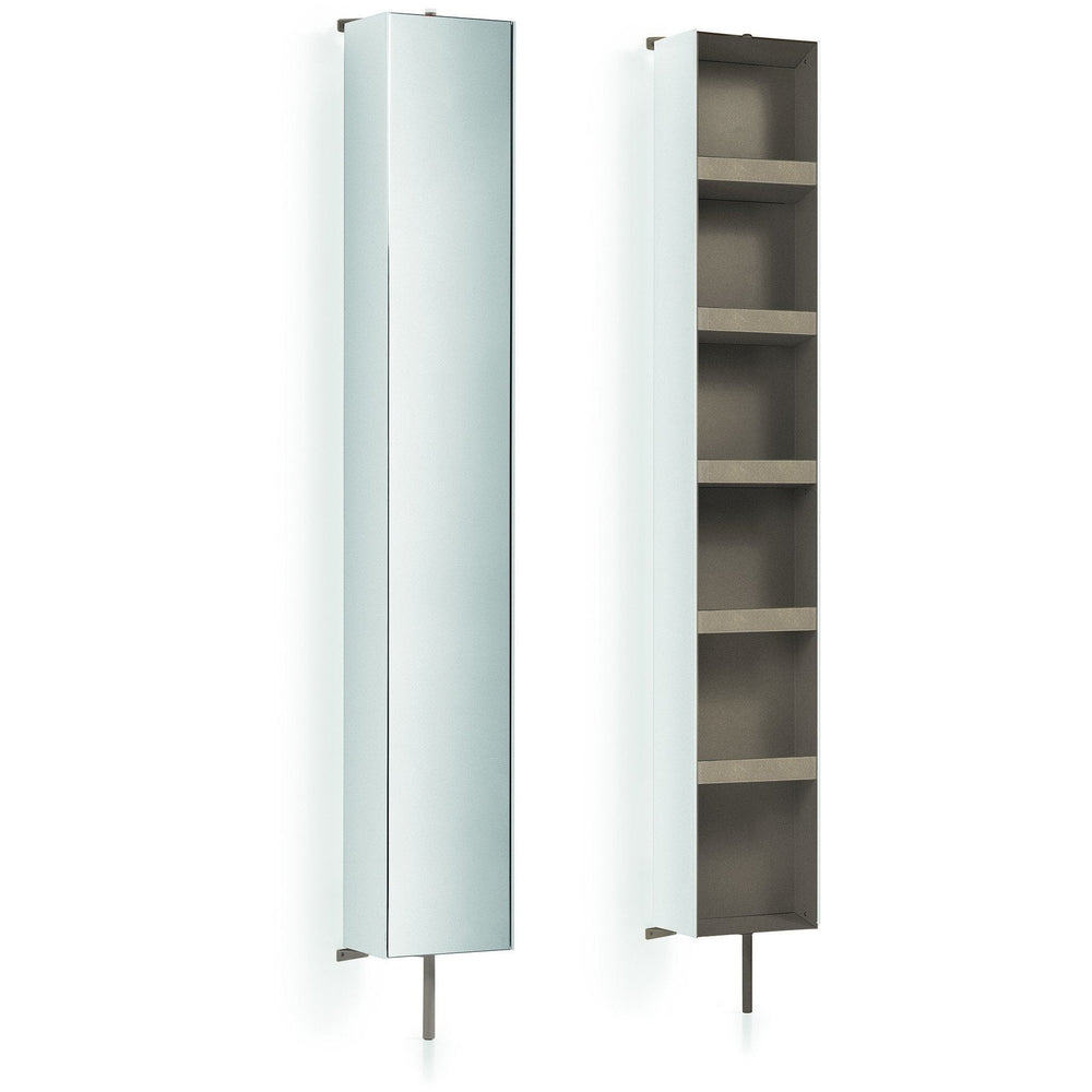 Floor Cabinet LB Linen Tower 360 Degree Rotating with Full-Length Mirror - AGM Home Store LLC