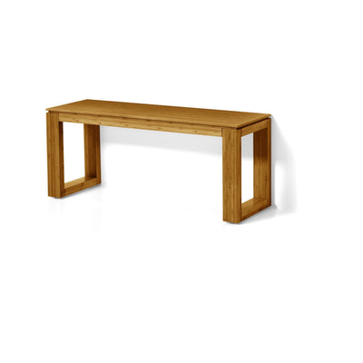 LB Canavera Backless Vanity Stool Bench for Two Lacquer Bamboo Natural Wood - AGM Home Store LLC
